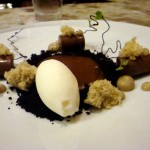 Soft chocolate, peppermint ice cream, black cardamom, toffee