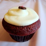 Exquisite red velvet cupcake