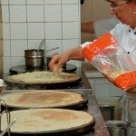 Hard at work on my forestière crêpe