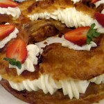 Paris-Brest (hazelnut cream puff)