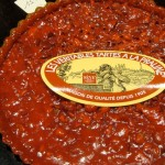 A lyonnaise specialty: red praline tart (no raspberries here!)