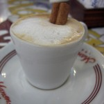 Lovely coffee with cinnamon stick at Manon