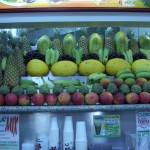 Sucos stand fruits waiting to be smoothied
