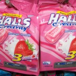 "Halls ""Creamy"" - strawberry flavored"